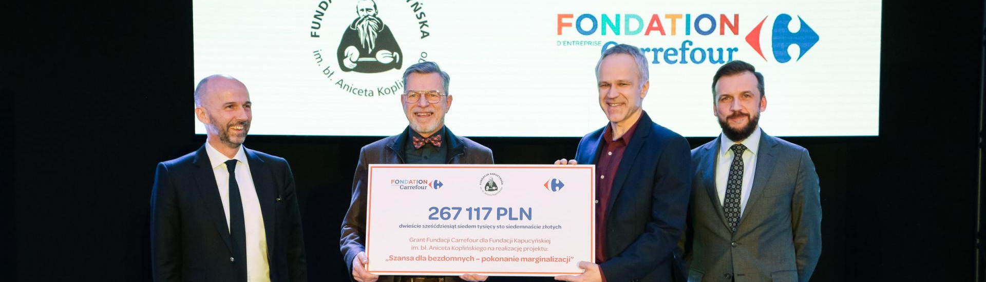 Grant from the Carrefour Foundation for the homeless in Poland