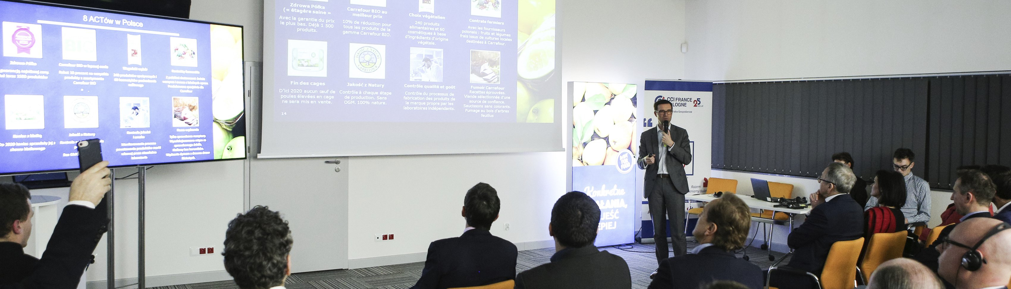 Carrefour promotes food transition and educates about BIO in the environment of French business in Poland