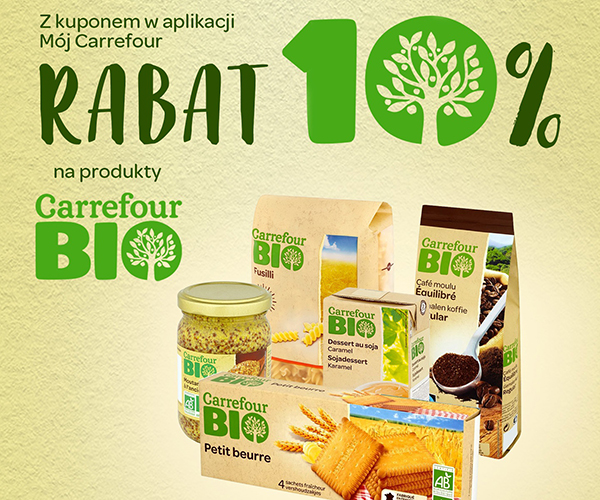 10% reduction on Carrefour BIO products