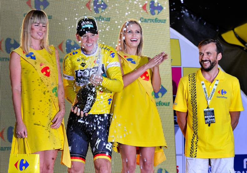 Start of the 75th anniversary edition of the Tour De Pologne with Carrefour Poland