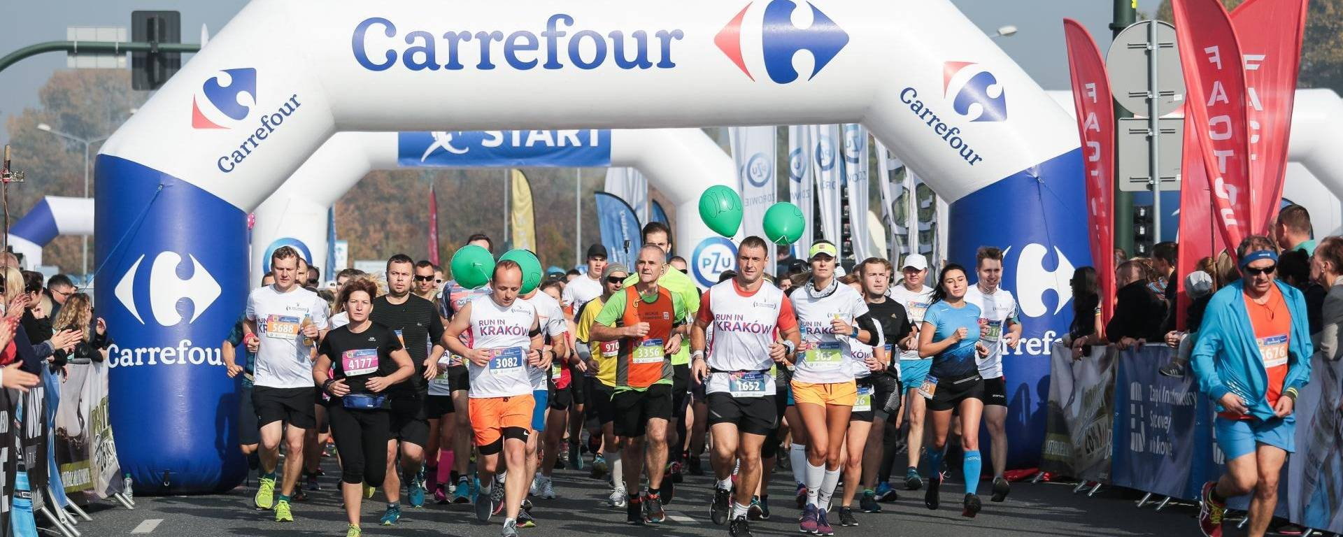 Carrefour took part in running races in Cracow